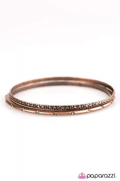 Paparazzi Glitz Royale Copper Bracelet