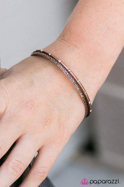 Paparazzi Glitz Royale Copper Bracelet 2
